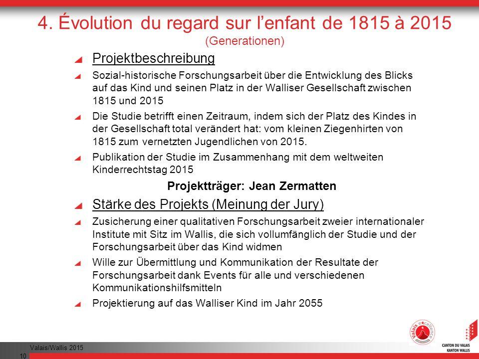 4. Évolution du regard sur l'enfant de 1815 à 2015 (Generationen)