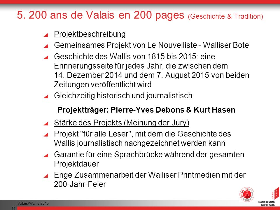5. 200 ans de Valais en 200 pages (Geschichte & Tradition)