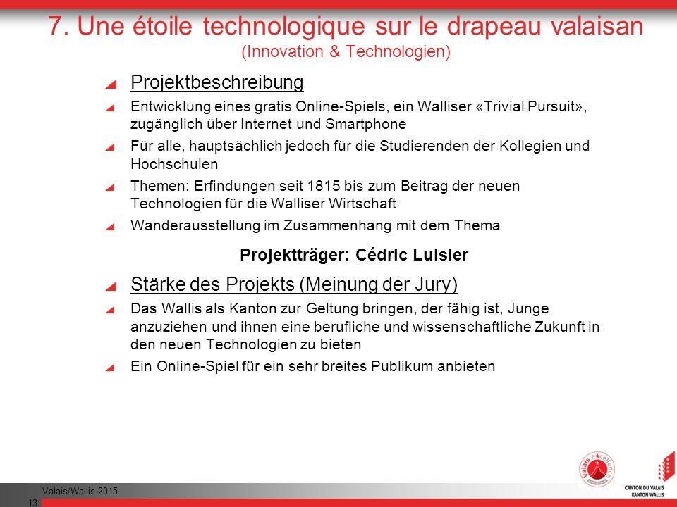 Projektträger: Cédric Luisier