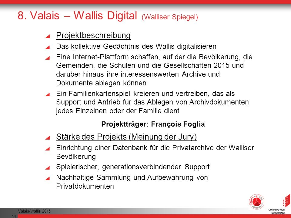 8. Valais – Wallis Digital (Walliser Spiegel)