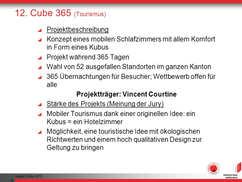 Projektträger: Vincent Courtine