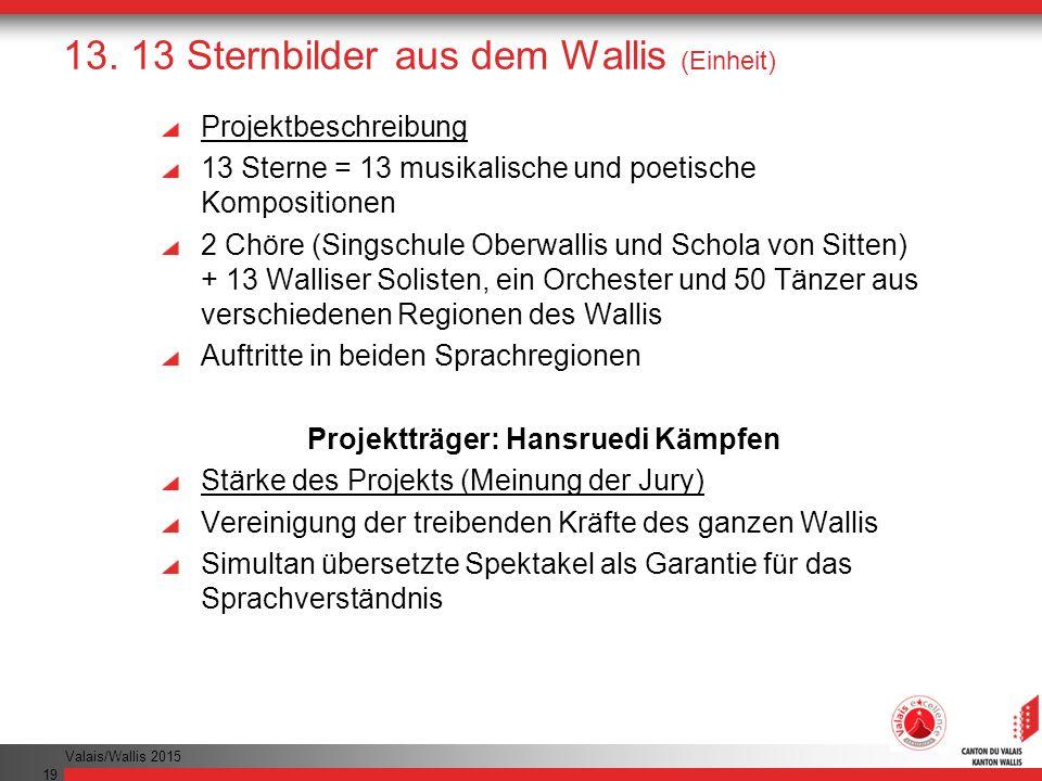 13. 13 Sternbilder aus dem Wallis (Einheit)