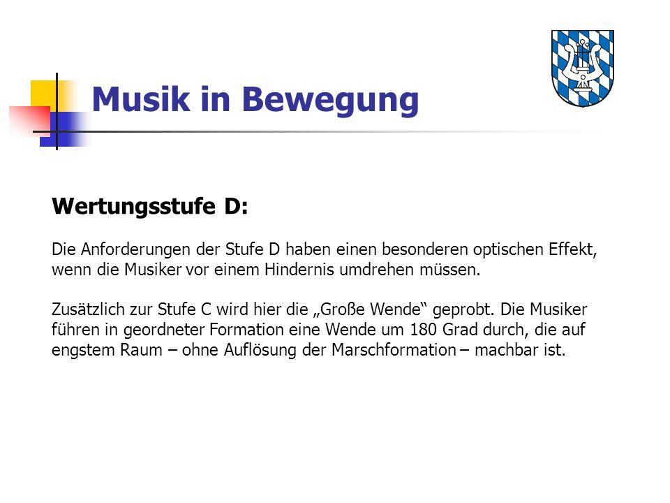 Musik in Bewegung Wertungsstufe D: