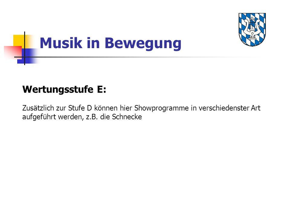 Musik in Bewegung Wertungsstufe E: