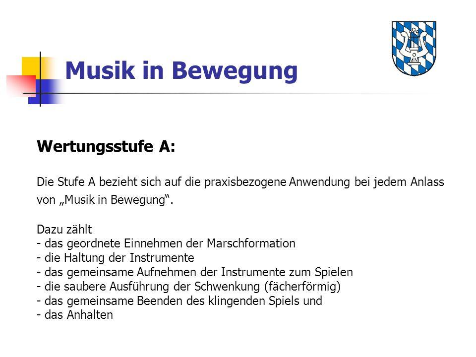 Musik in Bewegung Wertungsstufe A: