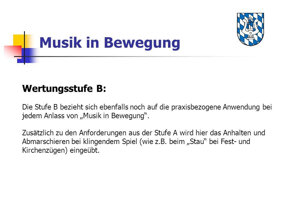 Musik in Bewegung Wertungsstufe B: