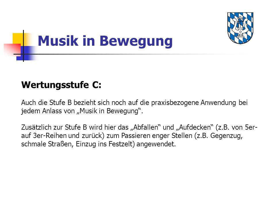 Musik in Bewegung Wertungsstufe C: