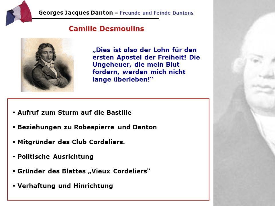 Georges Jacques Danton – Freunde und Feinde Dantons