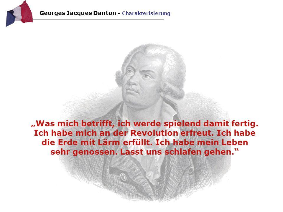 Georges Jacques Danton - Charakterisierung