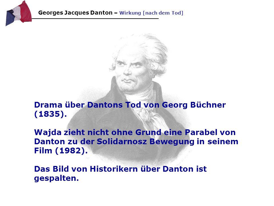 Drama über Dantons Tod von Georg Büchner (1835).