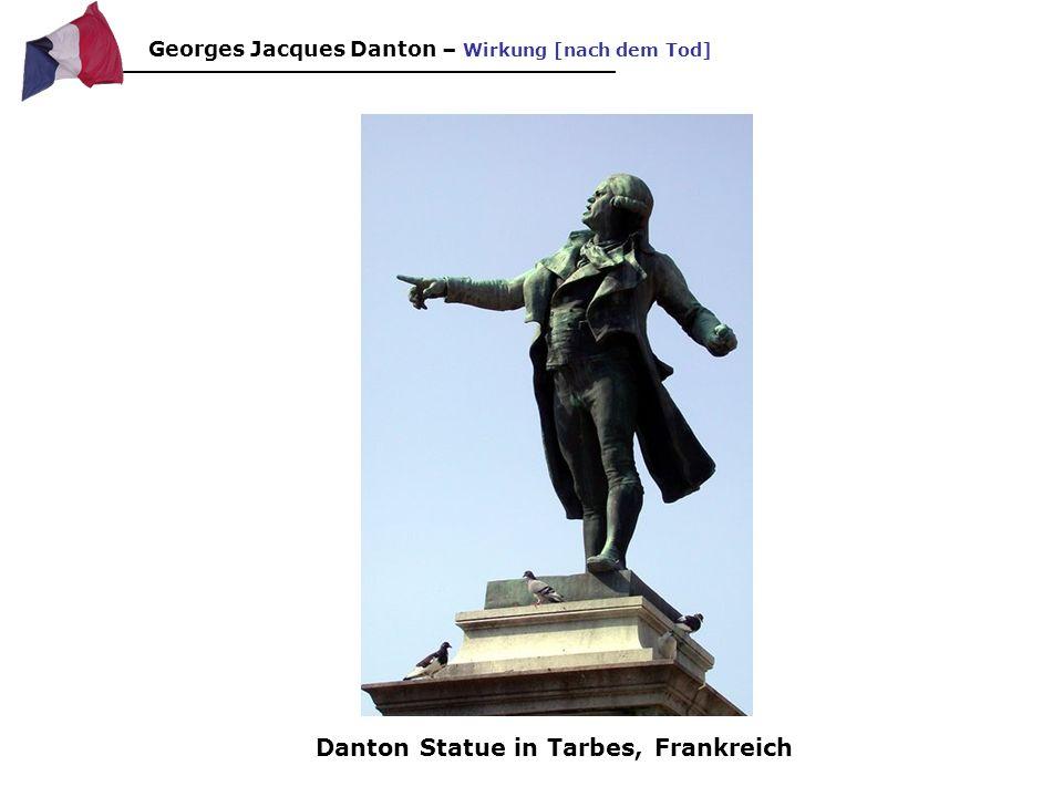 Danton Statue in Tarbes, Frankreich
