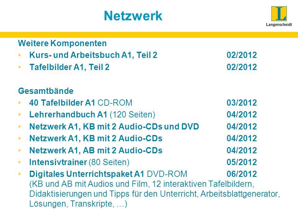 Netzwerk Weitere Komponenten Kurs- und Arbeitsbuch A1, Teil 2 02/2012