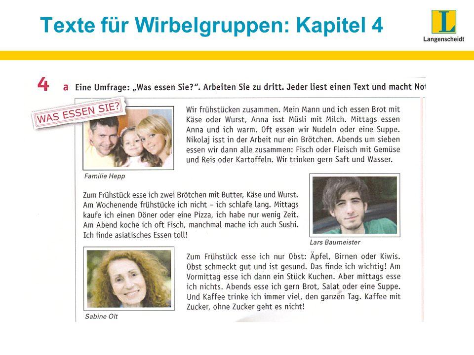 Texte für Wirbelgruppen: Kapitel 4