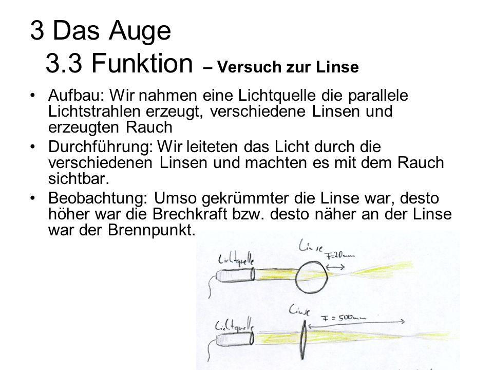 3 Das Auge 3.3 Funktion – Versuch zur Linse