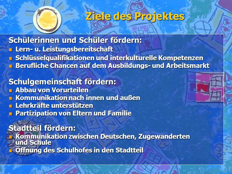 Ziele des Projektes Schülerinnen und Schüler fördern: