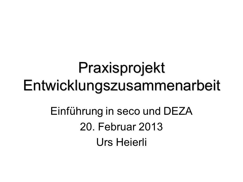 Praxisprojekt Entwicklungszusammenarbeit
