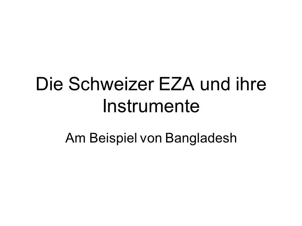 Die Schweizer EZA und ihre Instrumente