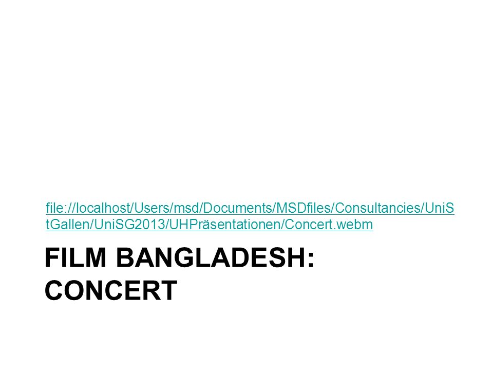 Film Bangladesh: concert