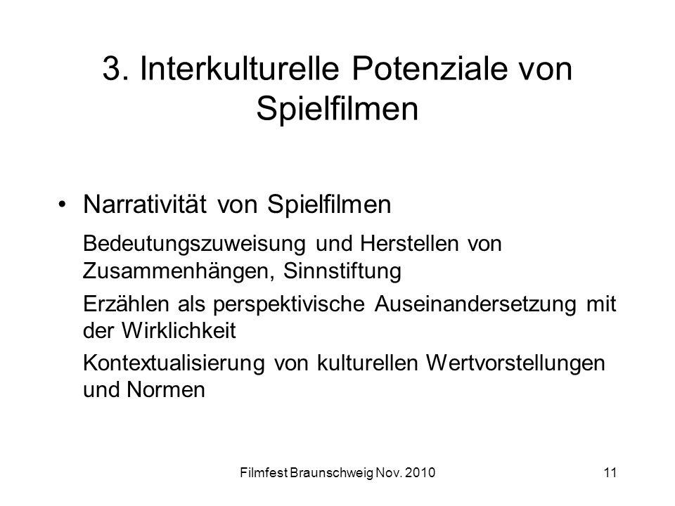 3. Interkulturelle Potenziale von Spielfilmen