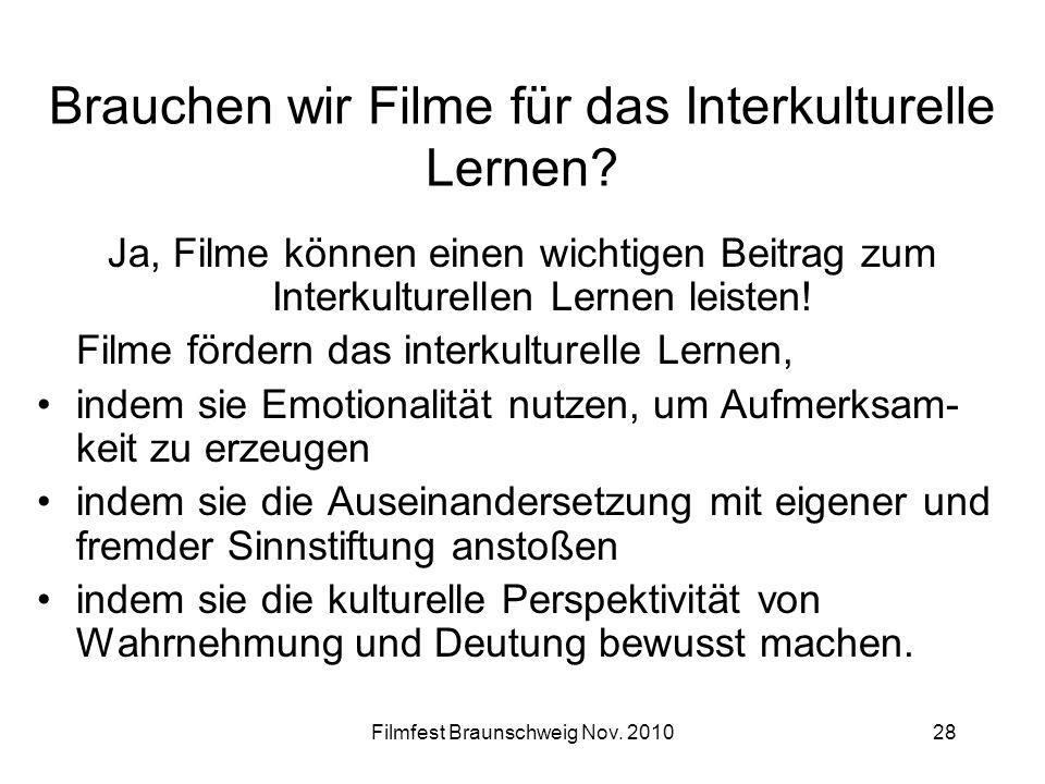Brauchen wir Filme für das Interkulturelle Lernen