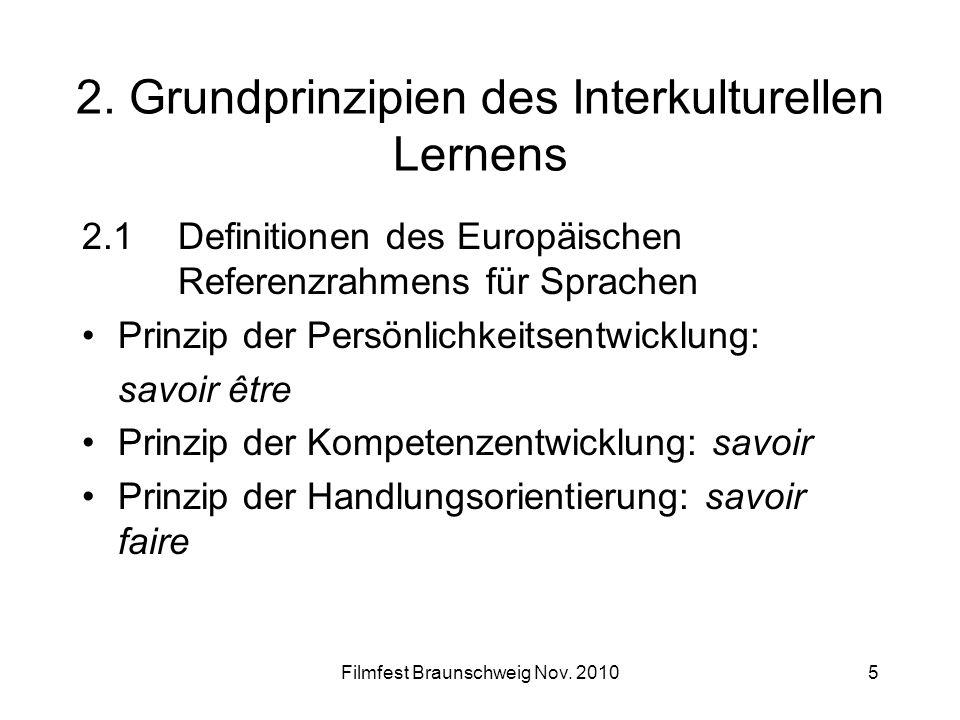 2. Grundprinzipien des Interkulturellen Lernens