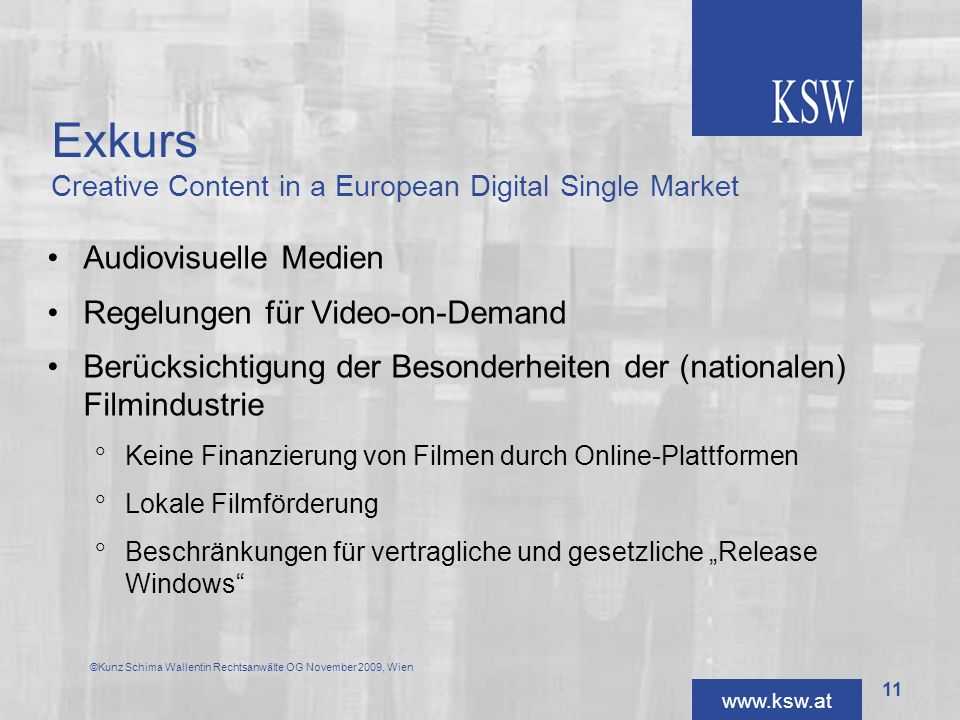 Exkurs Creative Content in a European Digital Single Market