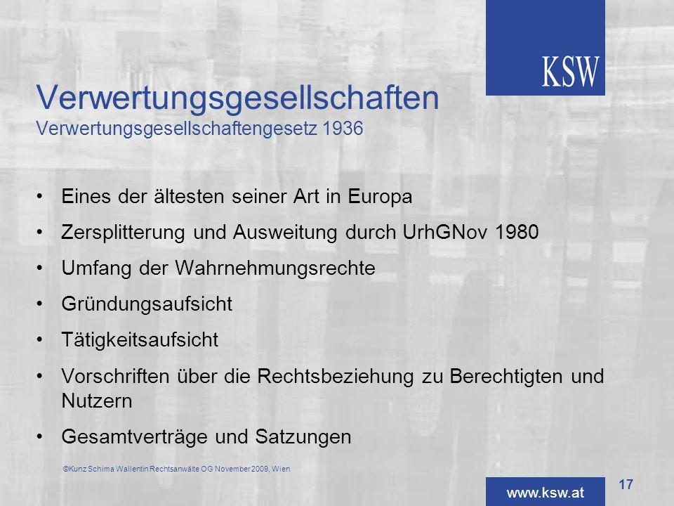 Verwertungsgesellschaften Verwertungsgesellschaftengesetz 1936