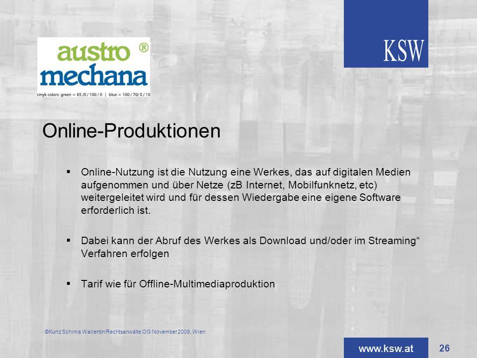 Online-Produktionen