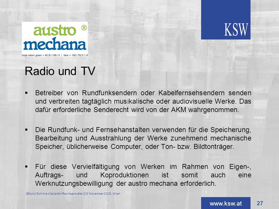 Radio und TV