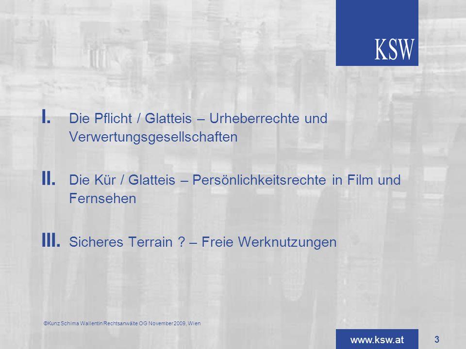 II. Die Kür / Glatteis – Persönlichkeitsrechte in Film und Fernsehen