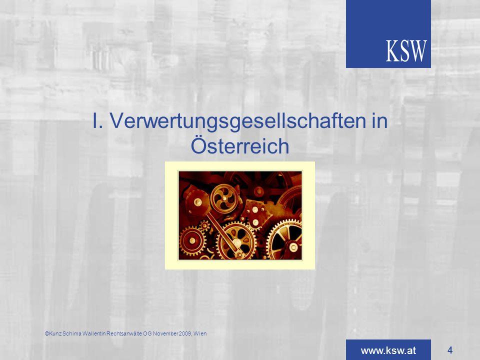 I. Verwertungsgesellschaften in Österreich