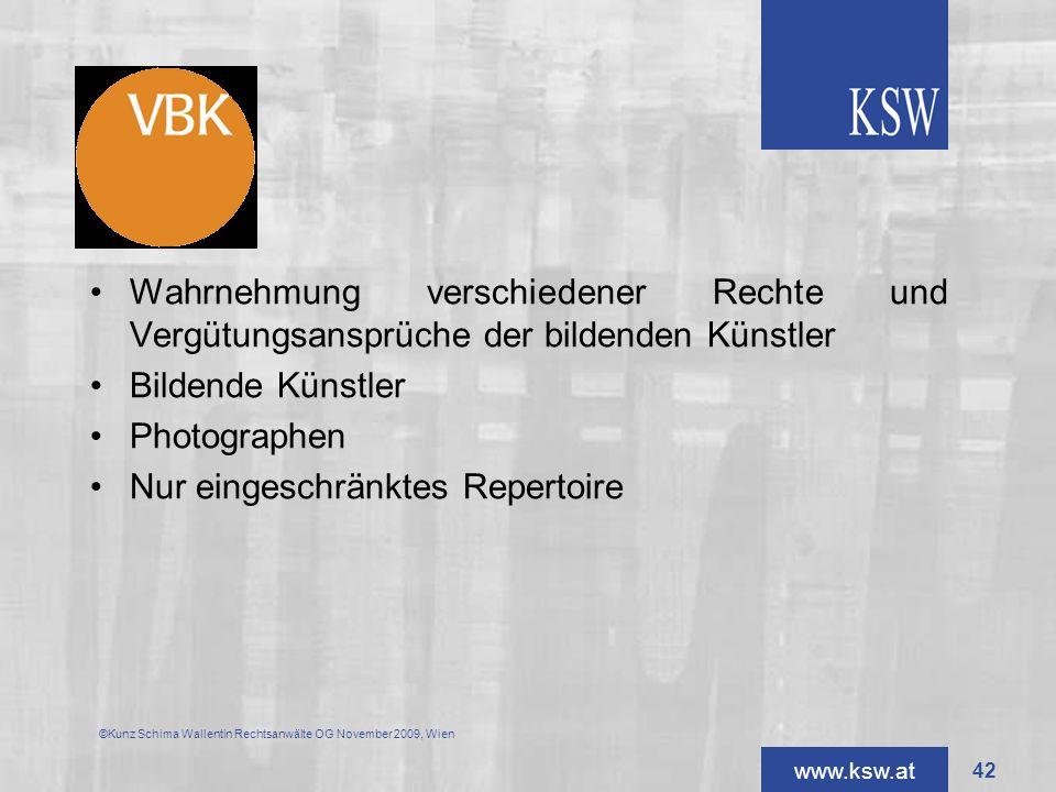 VBK Wahrnehmung verschiedener Rechte und Vergütungsansprüche der bildenden Künstler. Bildende Künstler.