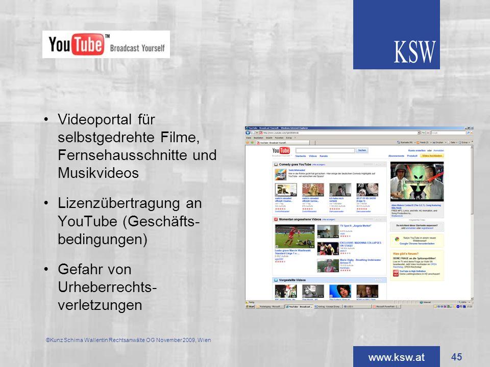 Lizenzübertragung an YouTube (Geschäfts- bedingungen)