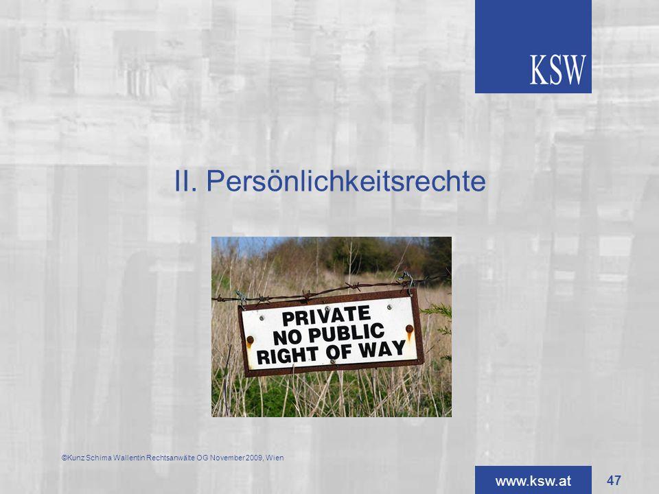 II. Persönlichkeitsrechte