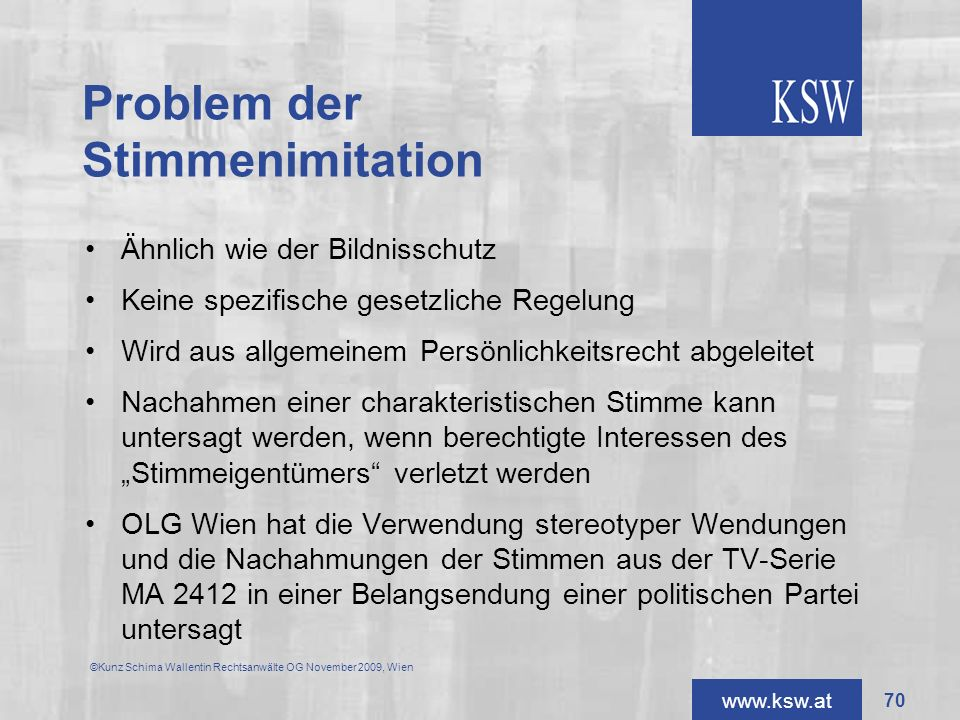 Problem der Stimmenimitation