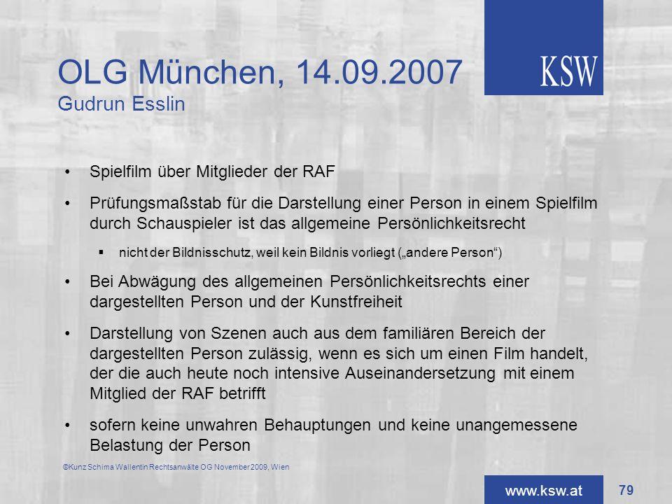 OLG München, 14.09.2007 Gudrun Esslin