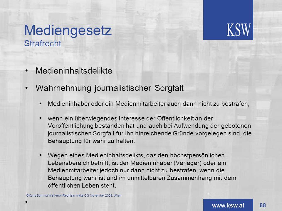 Mediengesetz Strafrecht