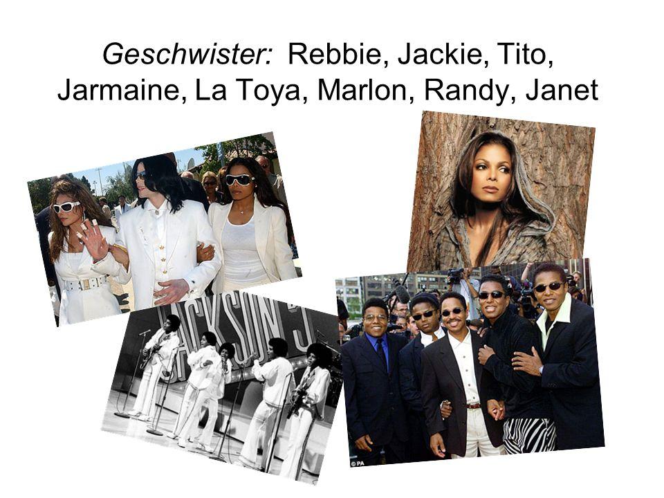 Geschwister: Rebbie, Jackie, Tito, Jarmaine, La Toya, Marlon, Randy, Janet