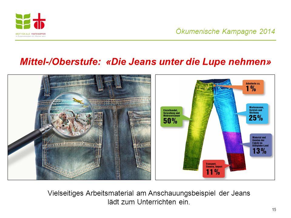 Mittel-/Oberstufe: «Die Jeans unter die Lupe nehmen»