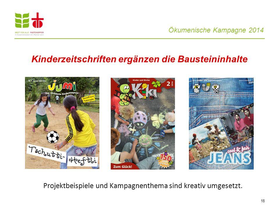 Kinderzeitschriften ergänzen die Bausteininhalte