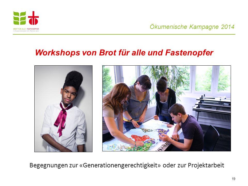 Workshops von Brot für alle und Fastenopfer