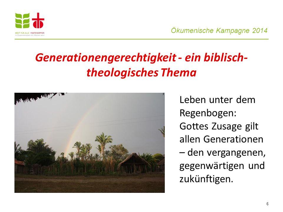 Generationengerechtigkeit - ein biblisch-theologisches Thema