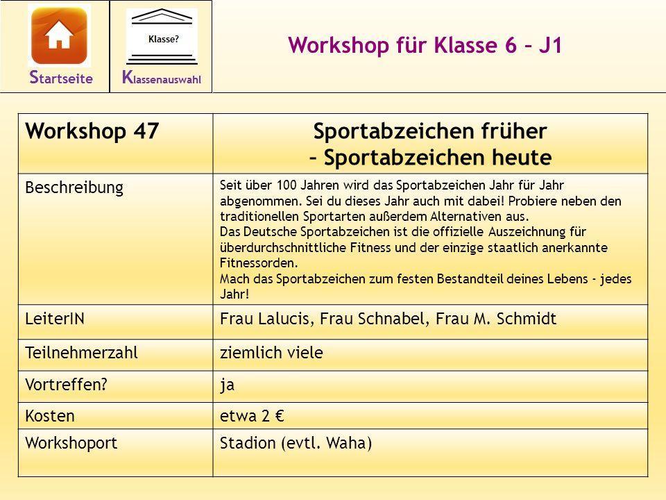 Sportabzeichen früher – Sportabzeichen heute