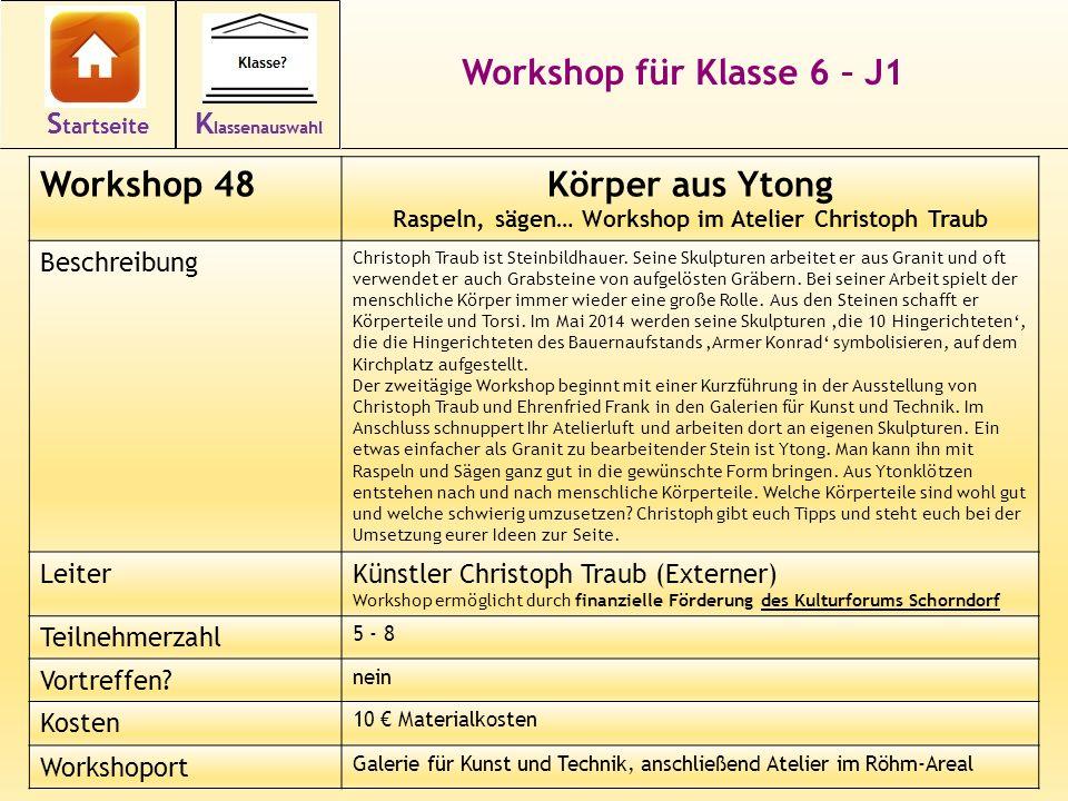Raspeln, sägen… Workshop im Atelier Christoph Traub