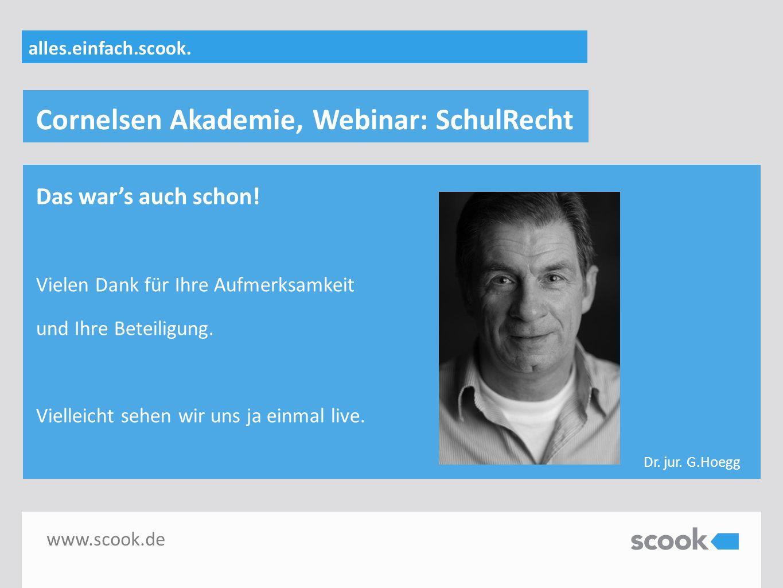 Cornelsen Akademie, Webinar: SchulRecht