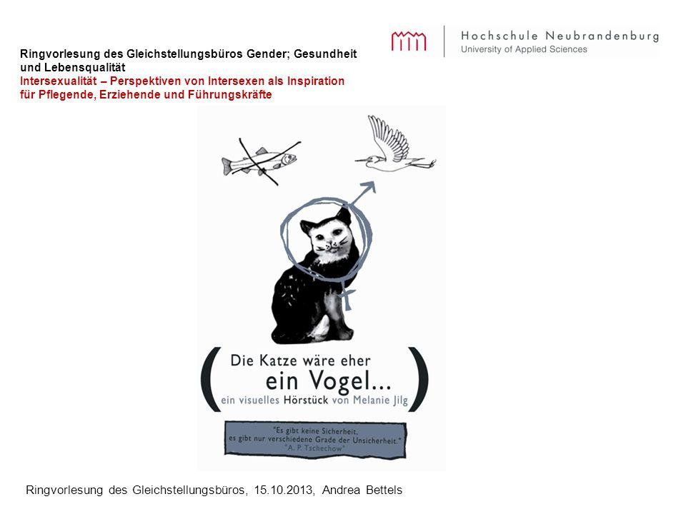 Ringvorlesung des Gleichstellungsbüros, 15.10.2013, Andrea Bettels