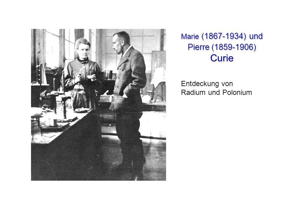 Marie (1867-1934) und Pierre (1859-1906) Curie