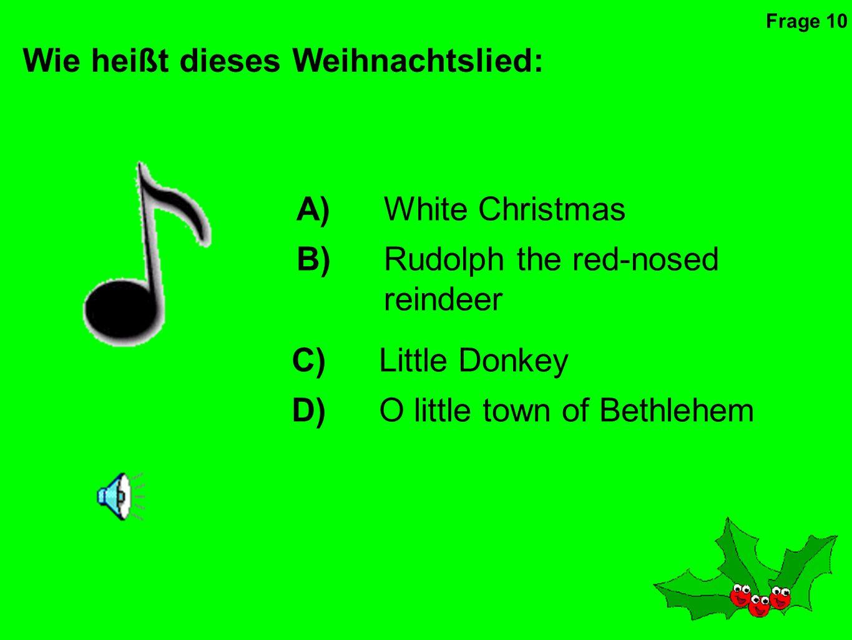 Wie heißt dieses Weihnachtslied: