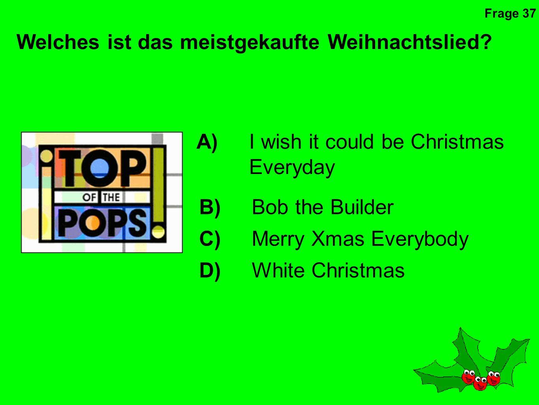 Welches ist das meistgekaufte Weihnachtslied
