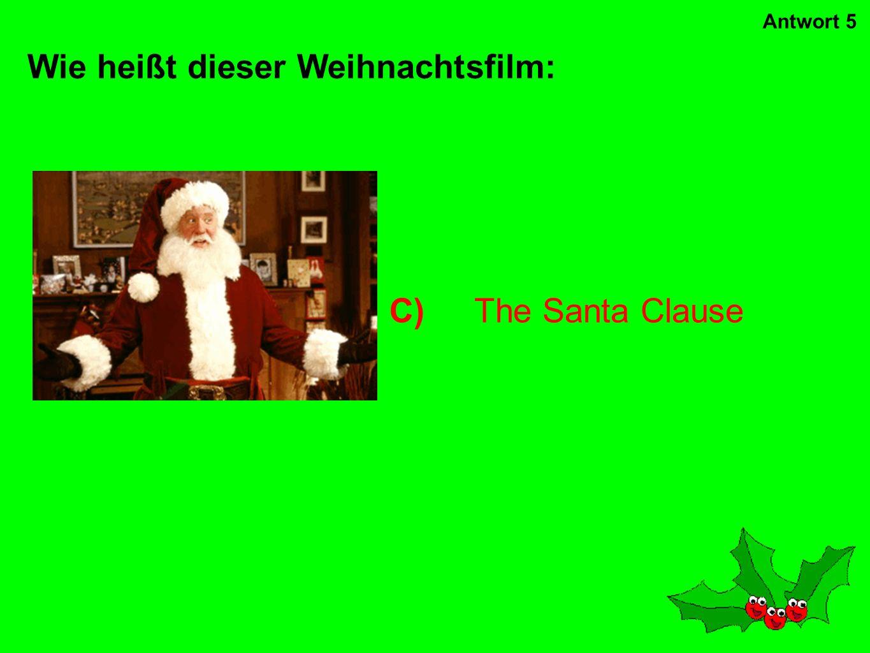 Wie heißt dieser Weihnachtsfilm:
